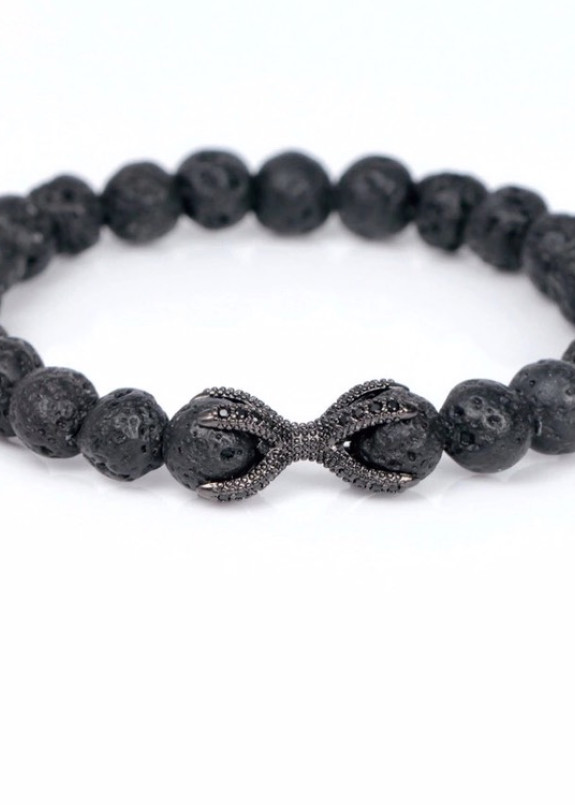 Изображение Браслет из натурального камня черный Claws Fashion