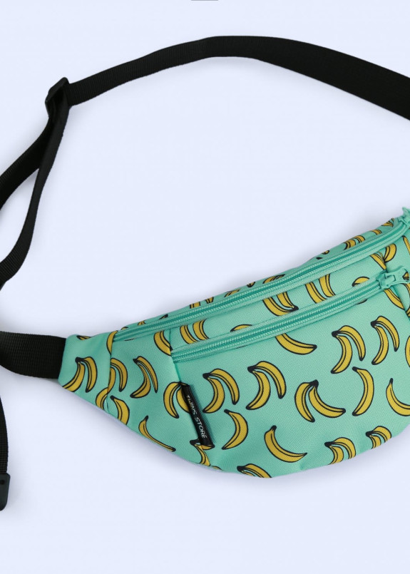 Изображение Сумка на пояс мятная Бананы Twins Store