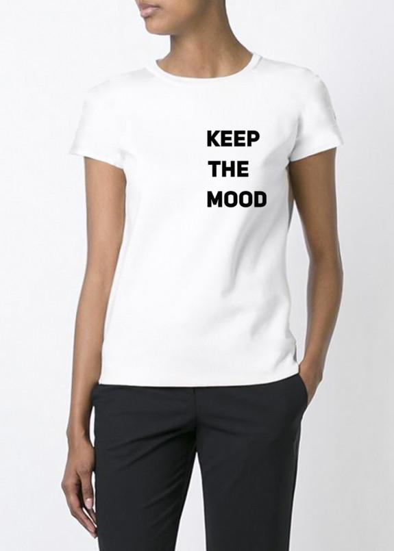 Изображение Футболка женская белая Keep The Mood YAPPI