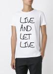 Изображение Футболка мужская белая live and let live YAPPI