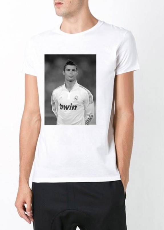 Изображение Футболка мужская белая Ronaldo YAPPI