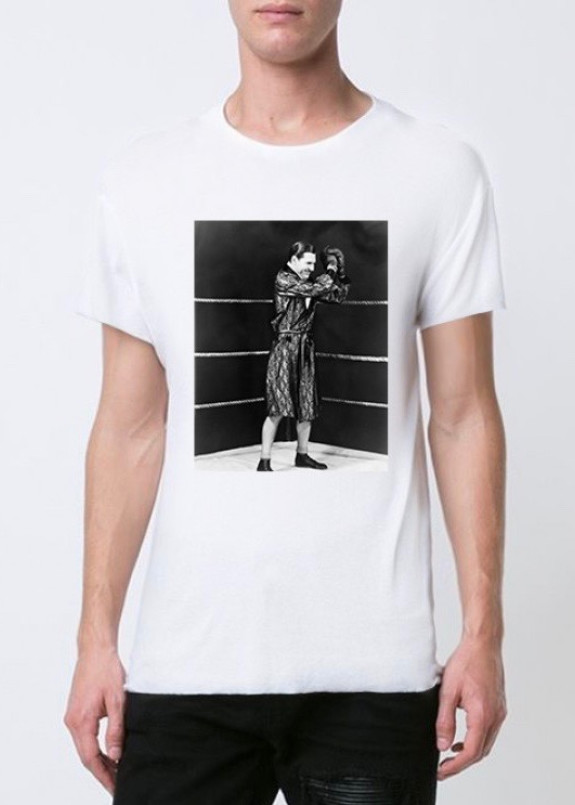Изображение Футболка мужская белая boxing ring YAPPI