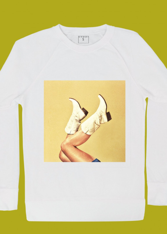 Изображение Свитшот женский белый Cowboy Boots Yappi