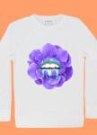 Изображение Свитшот женский белый Purple Lips Yappi