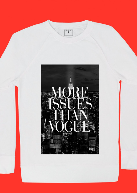 Изображение Свитшот женский белый More Issues Than Vogue Yappi
