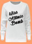 Изображение Свитшот женский белый Miss Atomic Bomb Yappi