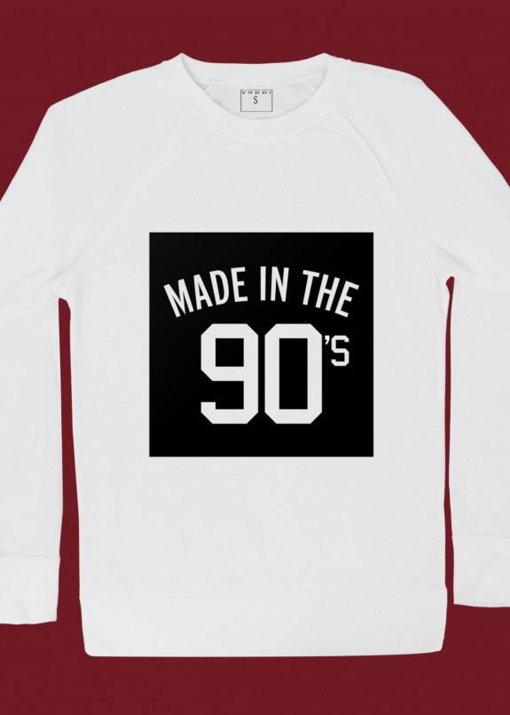 Изображение Свитшот женский белый Made in the 90''s Yappi