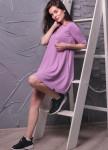 Изображение Платье-колокол фиолетовое Leska Prod
