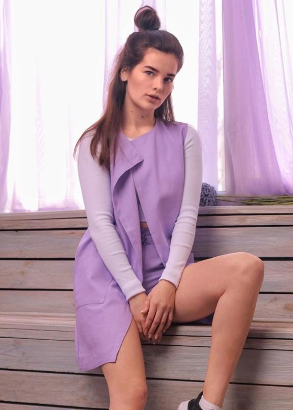 Изображение Жилет женский фиолетовый Leska Prod