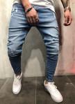 Изображение Джинсы мужские с дырками голубые MFStore