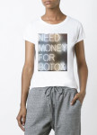 Изображение Футболка женская белая Need money for botox YAPPI