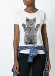 Изображение Футболка женская белая Grey Kitten YAPPI