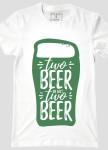 Изображение Футболка мужская белая Two Beer or not Two Beer YAPPI