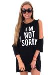 Изображение Платье черное I''M NOT SORRY Krutyakov
