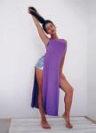 Изображение Топ удлиненный фиолетовый Leska Prod
