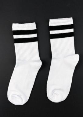 Изображение Носки длинные белые BLACK STRIPES SOX