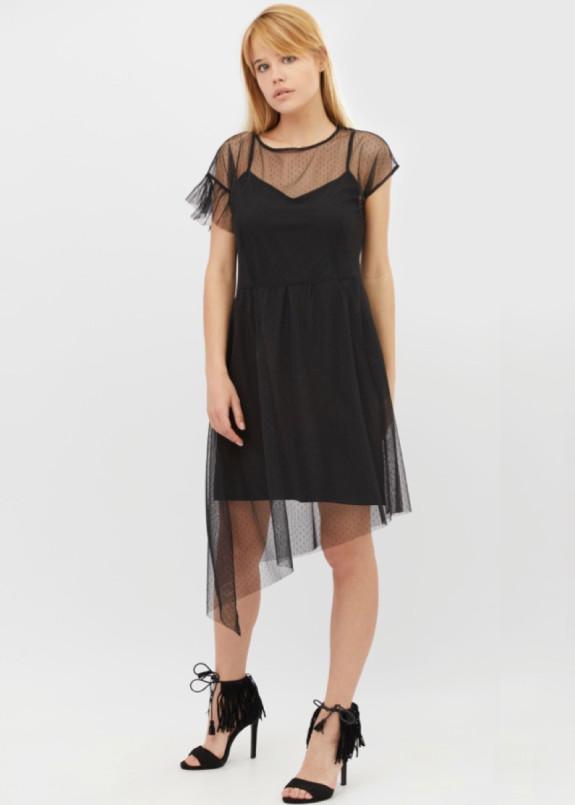 Изображение Платье черное FRILL BANG