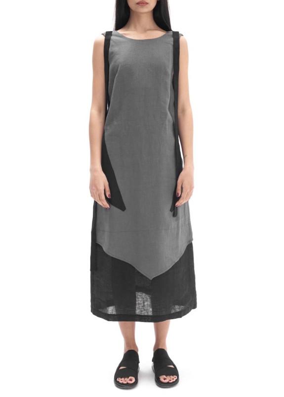 Изображение Платье льняное серое LUT