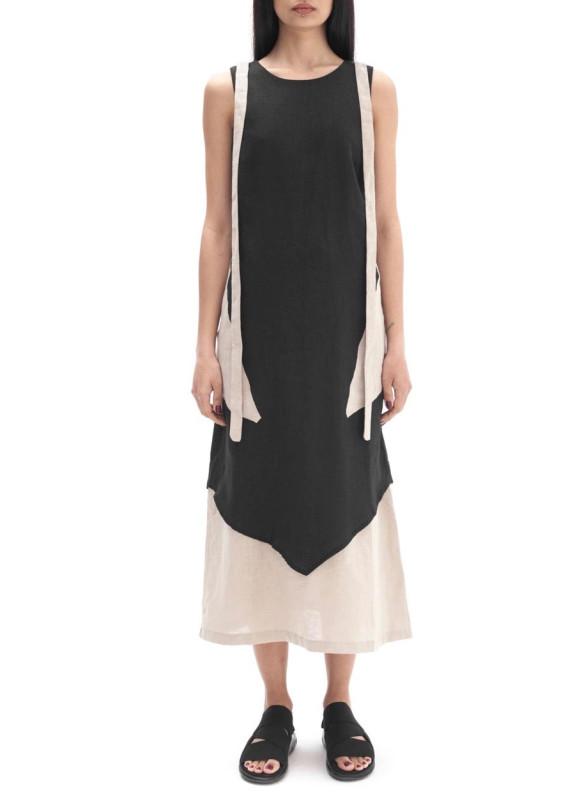 Изображение Платье льняное черное LUT
