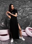 Изображение Футболка-платье черная She Black Limit