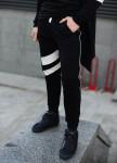 Изображение Штаны мужские черные с белыми вставками Shi