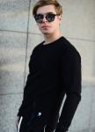 Изображение Спортивный костюм мужской черный Shi