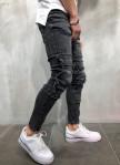 Изображение Джинсы мужские с карманом на колене серые MFStore