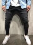 Изображение Джинсы мужские с разрезами на коленях черные MFStore