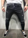 Изображение Джинсы мужские с дырками черные Skinny MFStore