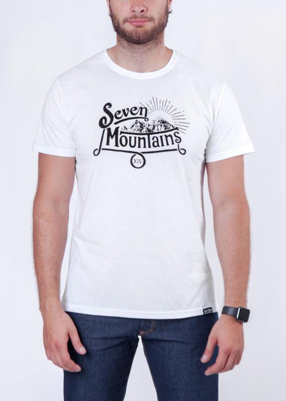 Изображение Футболка мужская белая Vintage Seven Mountains
