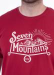 Изображение Футболка мужская бордовая Vintage Seven Mountains