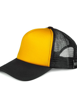 Изображение Кепка сетка черная с желтым MFS BRAND