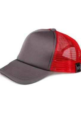 Изображение Кепка сетка серая с красным MFS BRAND