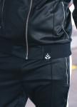 Изображение Бомбер мужской с лампасами черный с белым T-Stripe Somatonic