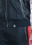 Изображение Бомбер мужской с лампасами черный с красным T-Stripe Somatonic