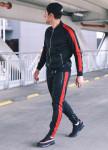 Изображение Спортивный костюм черный с красным T-Stripe Set Somatonic