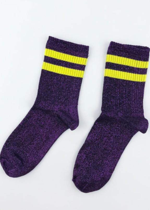 Изображение Носки фиолетовые люрекс с полосками SOX