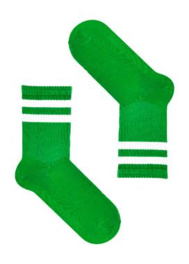 Изображение Носки длинные с полосками зеленые SOX