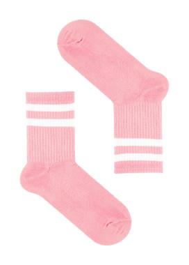Изображение Носки длинные с полосками розовые SOX