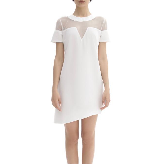 Изображение Платье с сеткой белое LUT