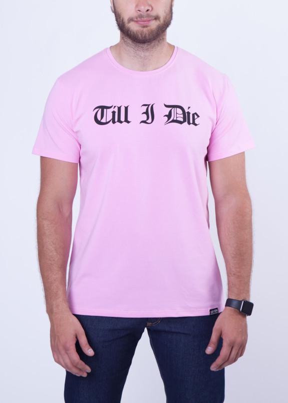 Изображение Футболка мужская розовая Till I Die Seven Mountains