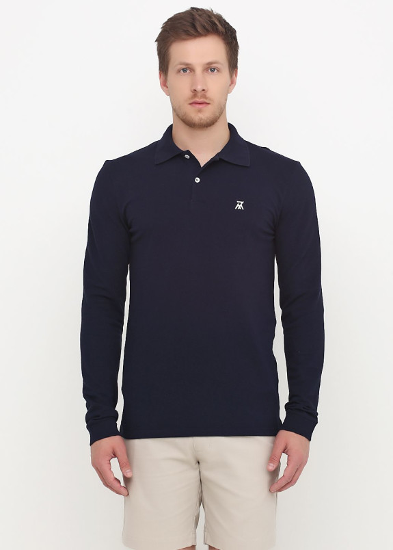 Изображение Лонгслив мужской темно-синий Long Sleeve Polo Seven Mountains
