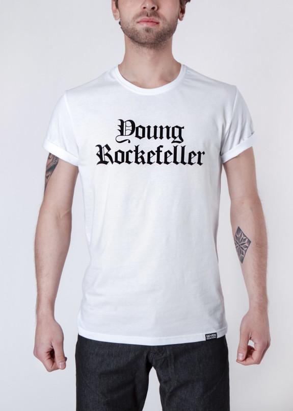 Изображение Футболка мужская белая Young Rockfeller Seven Mountains