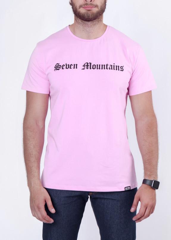 Изображение Футболка мужская розовая Gothic Seven Mountains