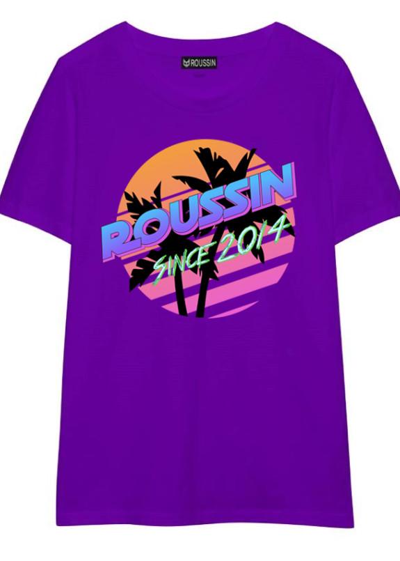 Изображение Футболка фиолетовая PALMS Roussin