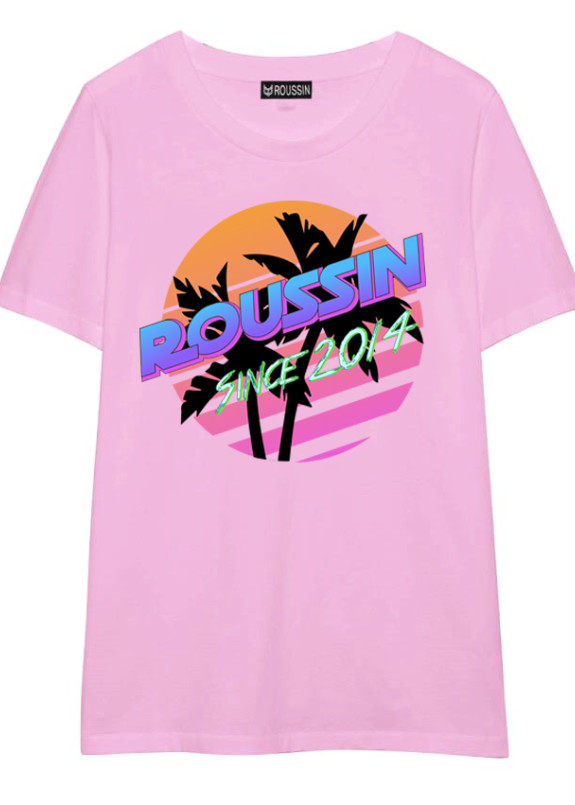 Изображение Футболка розовая PALMS Roussin