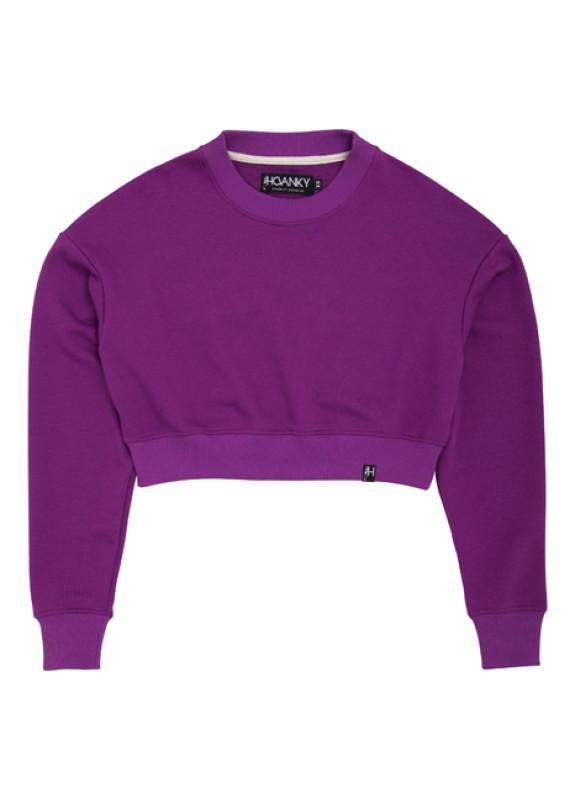 Изображение Свитшот женский фиолетовый Short Hovanky