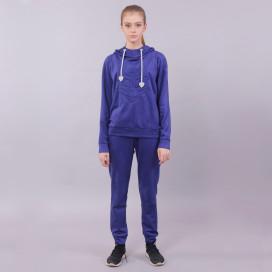 Костюм женский с худи синий Roussin c7673f9334982