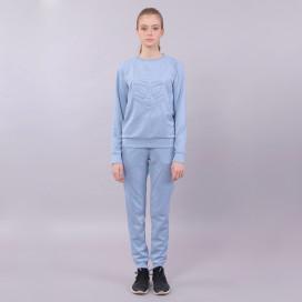 Костюм женский из эко-замши голубой Roussin 73fb9f5d017a8