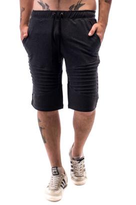 Изображение Шорты мужские с декоративными защипами темно-серые ThePARA